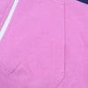 NK Slim Fit Stretchable Zipper Hoodie For Men-Light Pink with Dark Navy & Sky Panel-BE11029