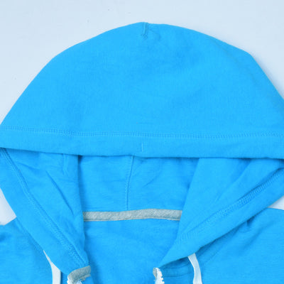 NK Slim Fit Stretchable Zipper Hoodie For Men-Sky with Light Sky & Green Panels-AN001