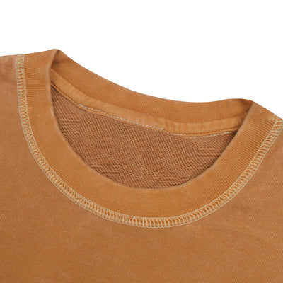 NK Terry Fleece Coeeze Sweatshirt For Women-Light Burnt Orange Faded-BE10233