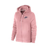 NK Terry Fleece Light Pink & Navy Embroidery Zipper Hoodie For Ladies-light Pink-BE10318