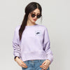 NK Terry Fleece Coeeze Sweatshirt For Women-Light Purple Faded-BE10234