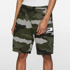 NK Terry Fleece Off White Melange & Navy Embroidery Short For Men-Camouflage-BE10341