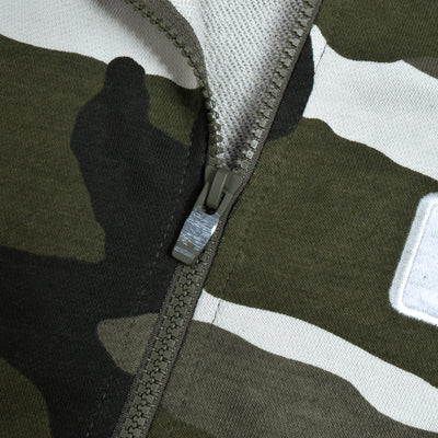 NK Terry Fleece Off White & Navy Embroidery Zipper Hoodie For Men-Camouflage-BE10290