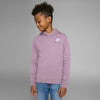 NK Terry Fleece Pink Melange & White Embroidery Pullover Hoodie For Kids-Pink Melange-BE10350
