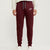 NK Summer Terry Slim Fit Trouser For Men-Maroon With White Embroidery-UE014