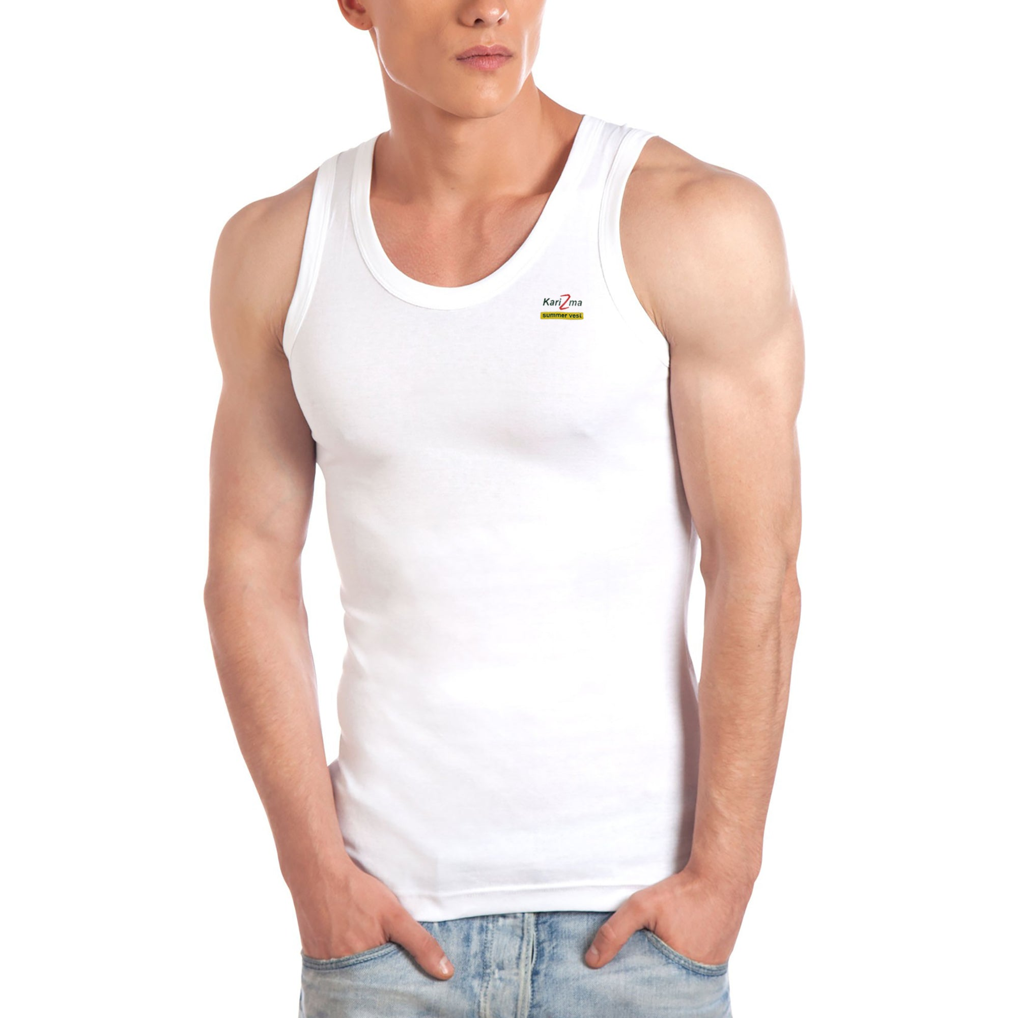 brandsego - Karizma Inner-Wear Sleeveless Vest For Men-BE4478
