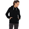 NYC Terry Fleece Fleece Rally Funnel Neck For Ladies-Black Melange-BE7026