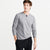 NYC Henley Long Sleeve Shirt For Men-Grey Melange-BE6201