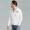 NYC Polo Fleece Full Zipper Hoodie For Men-White-BE10739