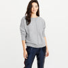 NYC Terry Fleece Sweatshirt For Women-Grey Melange-BE6944
