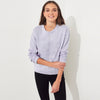 NYC Terry Fleece Sweatshirt For Women-Light Purple-BE6943