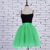 Nylon Cotton Skirt For Girls-Green-BE10722
