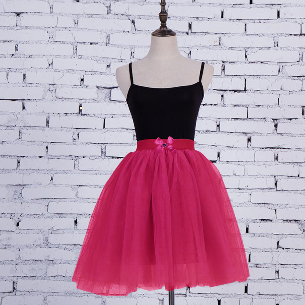 Nylon Cotton Skirt For Girls-Magenta-BE10723