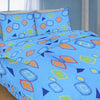 Oker's Island 100% Cotton Printed Double Bed Sheet & Pillow Set-BE5695