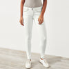 OLD NAVY Grinded Stretch Skinny Fit Denim For Ladies-White Smoke-NA7987