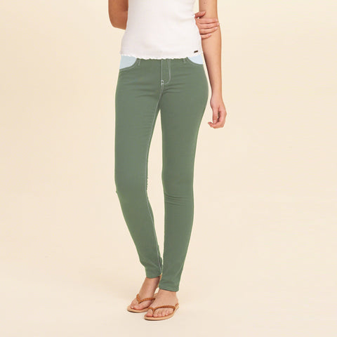 Old Navy Stylish Slim Fit Denim For Ladies-Olive Green-BE5686