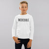 Orchestra Crew Neck Jersey Shirt Long Sleeve Shirt For Kids-White-BE8926