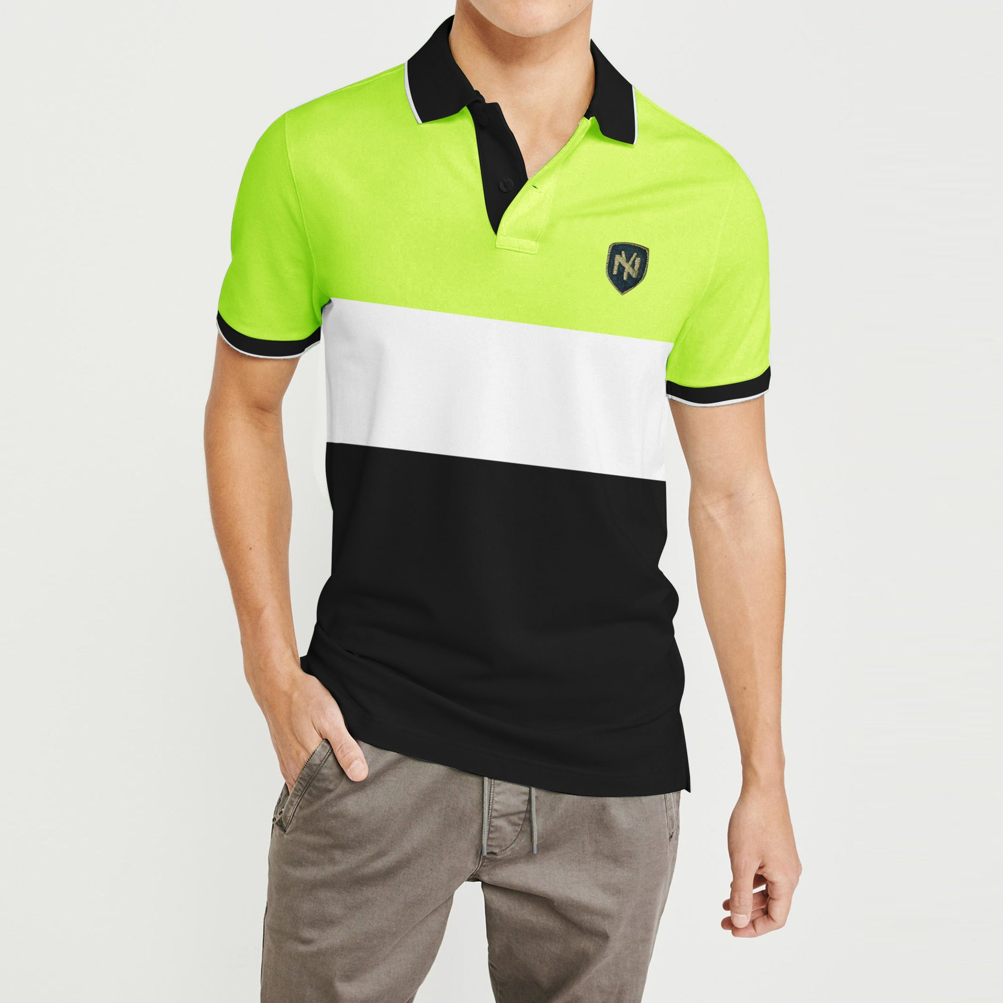 0ba8ae388bf Outfitters Short Sleeve P.Q Polo Shirt For Men-Striped-BE8318 - BrandsEgo