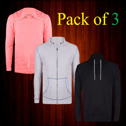 Pack Of 3 Hoodies For Men-AT17