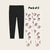 Pack Of 2 Guess Stylish Legging For Girls-Black with Peach Owl Allover Print-BE12314