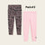 Pack Of 2 Guess Stylish Legging For Girls-Light Pink with Black Allover Print-BE12311