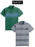 Pack Of 2 Short Sleeve P.Q Polo Shirt For Men-AN2678