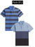 Pack Of 2 Short Sleeve P.Q Polo Shirt For Men-AN2679