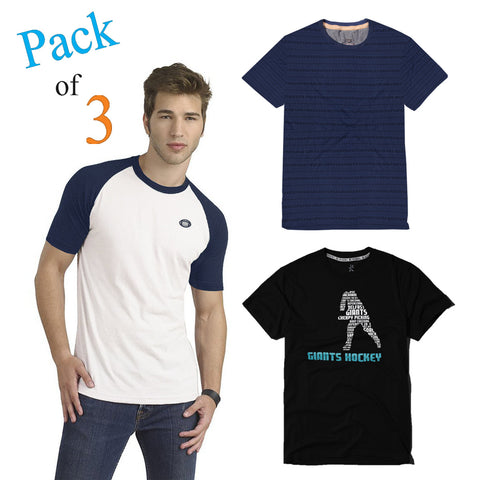 Pack Of 3 Crew Neck T Shirt For Men-AT52
