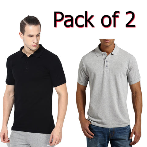 Pack Of 2 Polo Shirts For Men-AT54