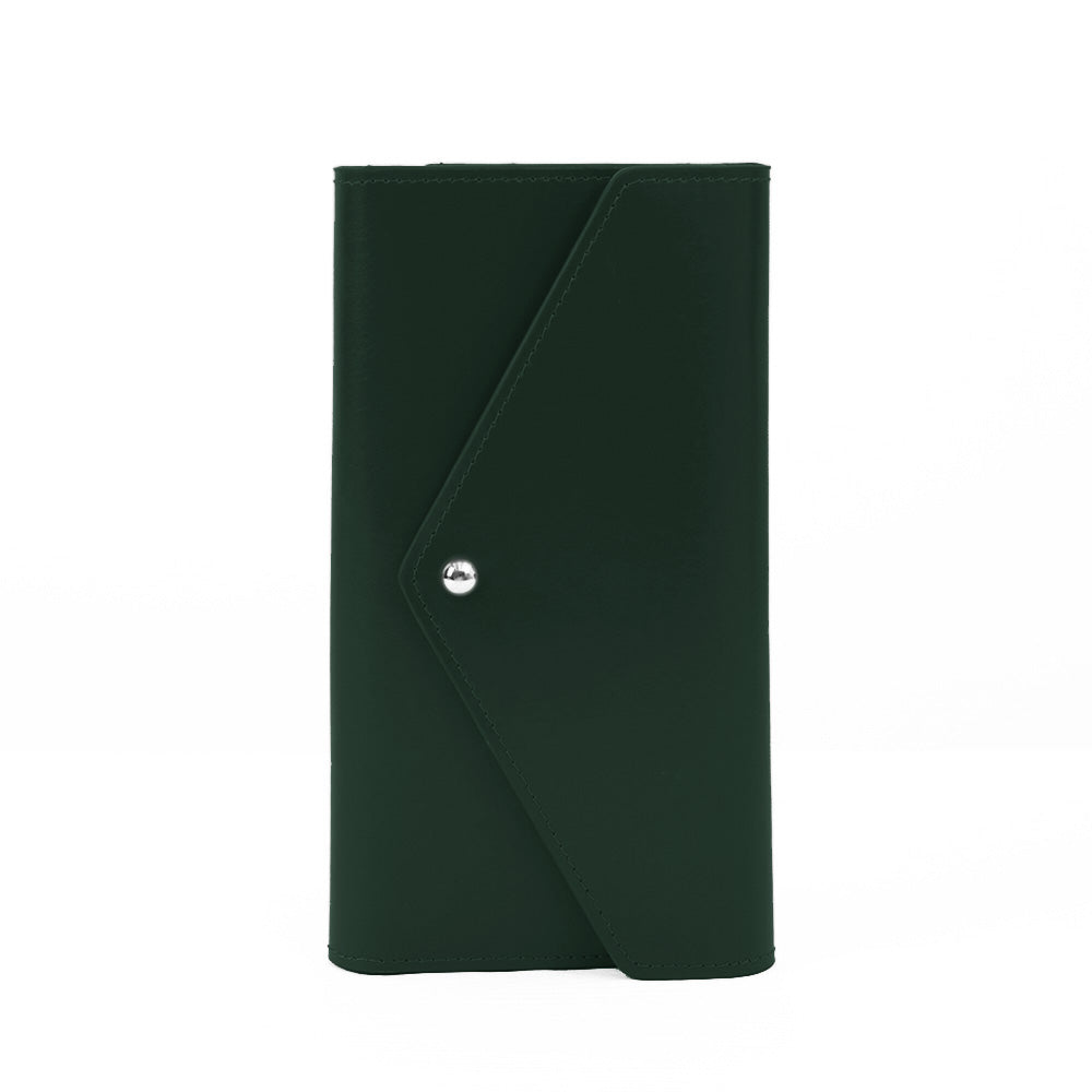 Paperthinks Recycled Leather Travel Envelopes-Dark Green-NA11398