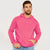 Pennant Pullover Fleece Hoodie For Men-Pink-BE6284