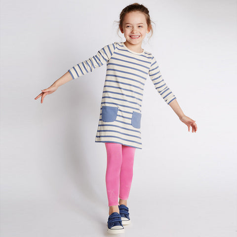 Kid's Jersey Stylish Tights Pink-(D07)