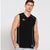 Polyester Reverse able Sleeveless Sport Shirt For Men-Black & White-BE6545