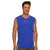 Polyester Reverse able Sleeveless Sport Shirt For Men-Blue & Orange-BE6560
