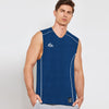 Polyester Reverse able Sleeveless Sport Shirt For Men-Ferrozi & White-BE6546