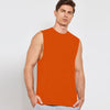 Polyester Sleeveless Sport Shirt For Men-Orange-BE6547