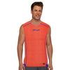 Polyester Reverse able Sleeveless Sport Shirt For Men-Orange & Blue-BE6550