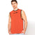 Polyester Reverse able Sleeveless Sport Shirt For Men-Orange & Parrot-BE6555