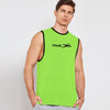 Polyester Reverse able Sleeveless Sport Shirt For Men-Parrot & Sky-BE6561