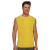 Polyester Reverse able Sleeveless Sport Shirt For Men-Yellow & Orange-BE6559