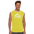 Polyester Sleeveless Sport Shirt For Men-Yellow-BE6552