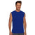 Polyester Sleeveless Sport Shirt For Men-Blue-BE6548