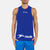 Polyester Sleeveless Sport Shirt For Men-Blue-BE6549