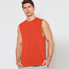 Polyester Sleeveless Sport Shirt For Men-Dark Orange-BE6565