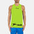 Polyester Sleeveless Sport Shirt For Men-Lime Green-BE6557