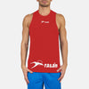 Polyester Sleeveless Sport Shirt For Men-Red-BE6554