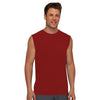 Polyester Sleeveless Sport Shirt For Men-Dark Red-BE6556