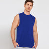 Polyester Sleeveless Sport Shirt For Men-Royal Blue-BE6563