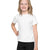 Popular Sport Crew Neck Single Jersey Tee Shirt For Kids-White-BE12186