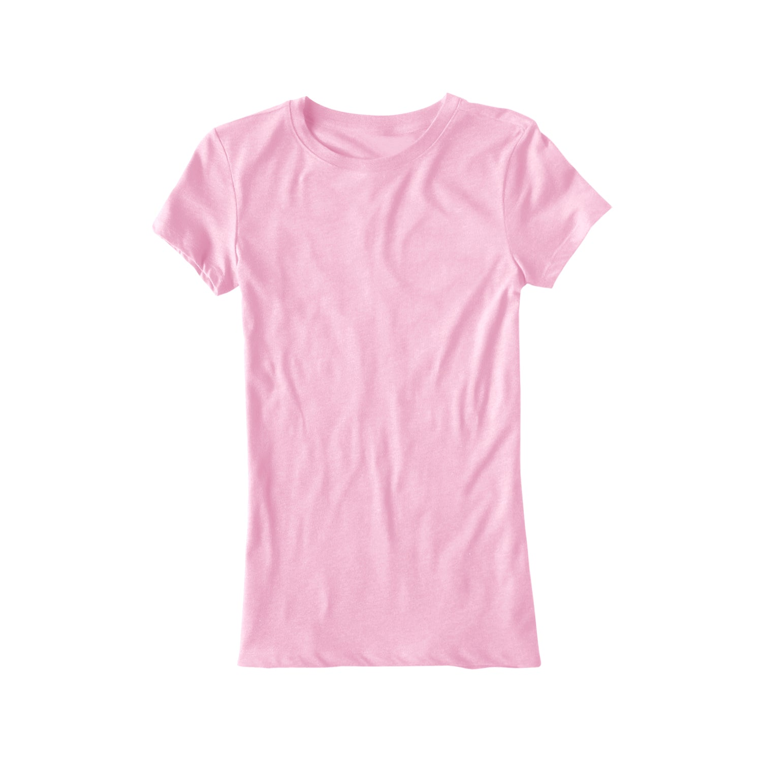 Popular Sport Single Jersey Crew Neck Tee Shirt For Women-Light Pink-BE9688